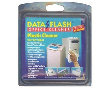 Data Flash Plastic Cleaner wet/dry Wipes