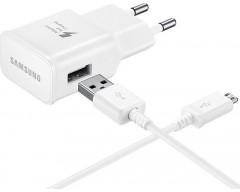 Samsung micro USB Cable & Wall Adapter Λευκό (ETA-U90EW & ECB-DU4AWE) (Bulk)