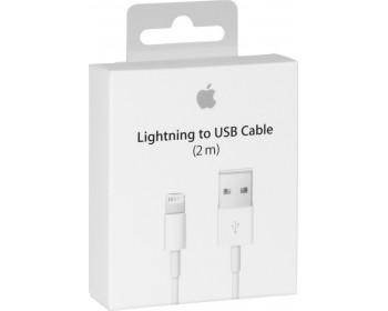 Apple USB to Lightning Λευκό 2m MD819ΖΜΑ σε Συσκευασία