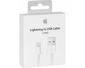 Apple Regular USB to Lightning Cable Λευκό 1m (MQUE2ZM/A)