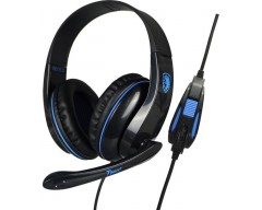 SADES Gaming headset Tpower με 40mm ακουστικά, Blue SA-701BL